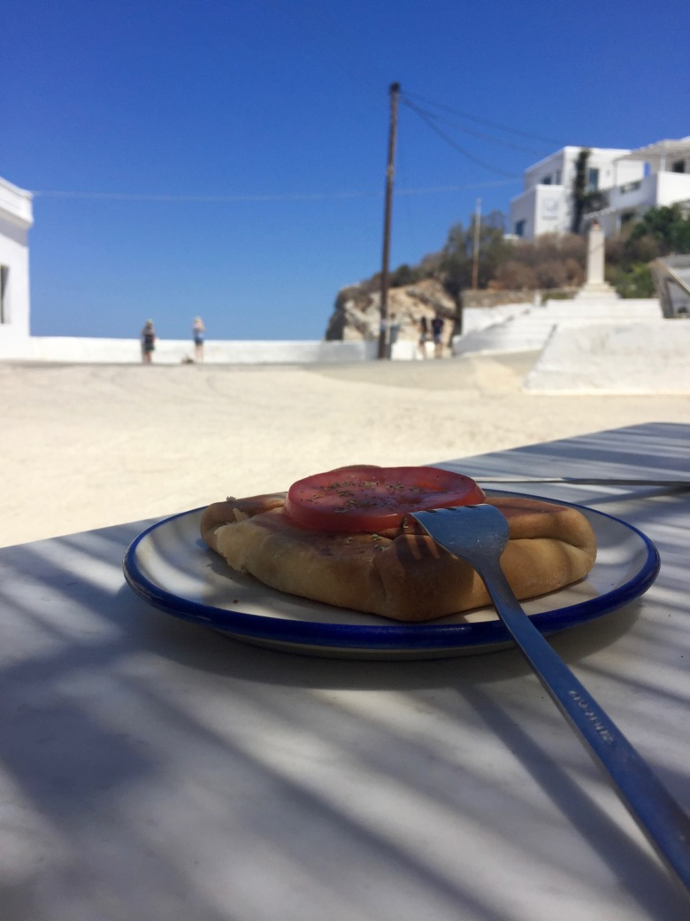 Traditional Kalasouna pie, Folegandros.