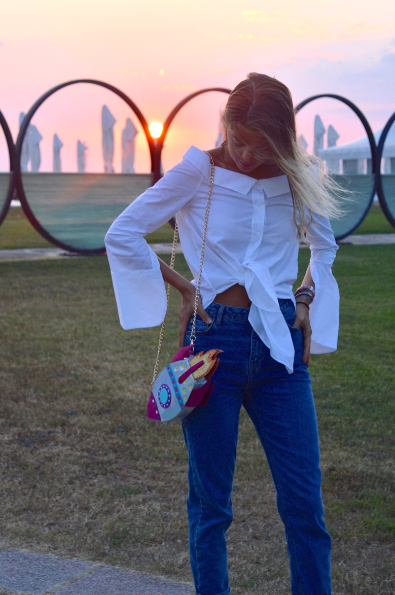 How to sport the off-shoulder trend.