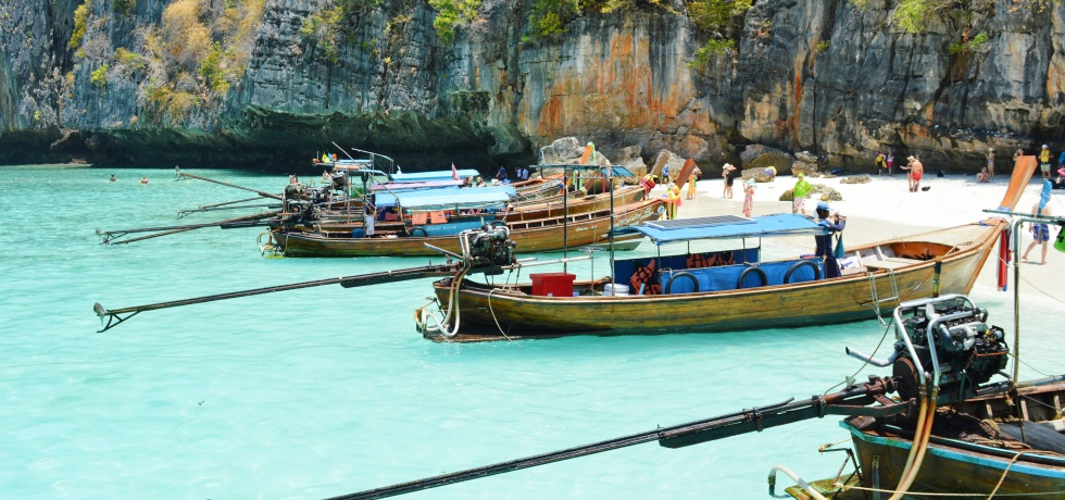 Boats at Kho Phi Phi, Thailand.