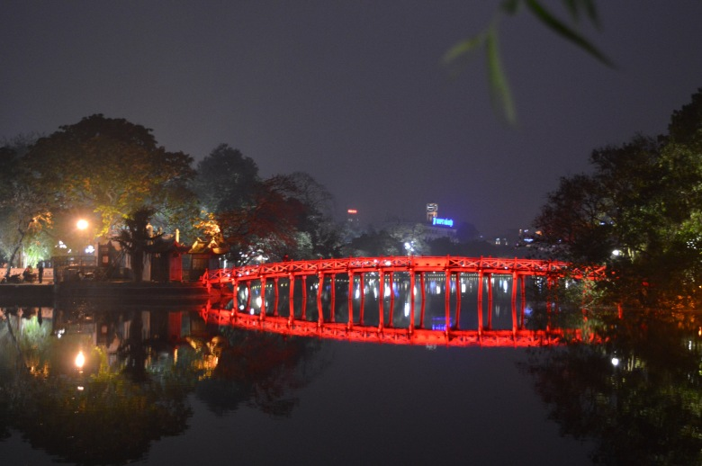 Long Bien Bridge in Hanoi, Vietnam.