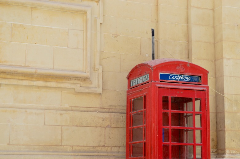 Detail of British Telephone in Valetta, Malta.