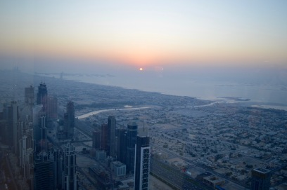 View from Atmosphere inside Burj Khalifa.
