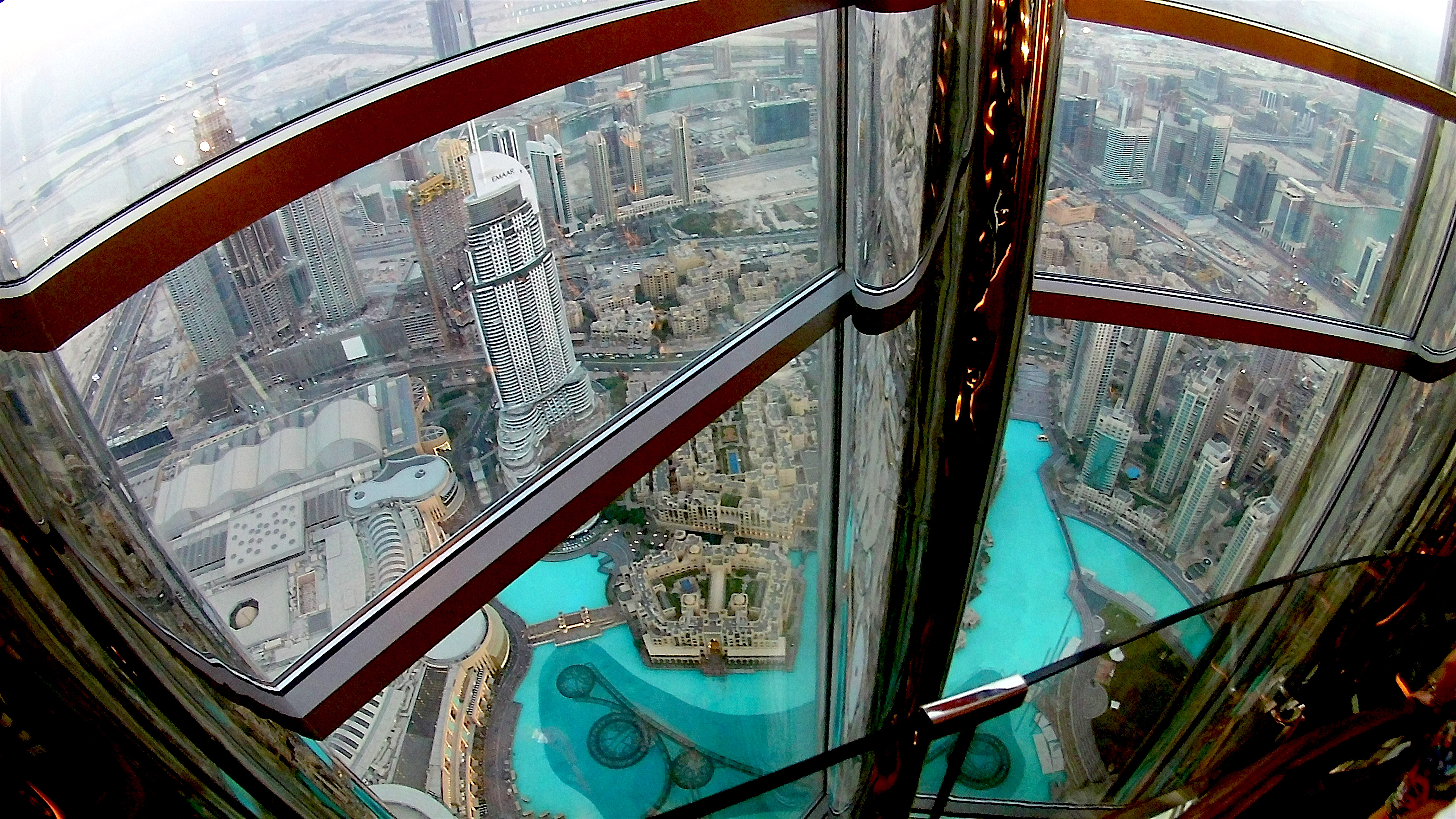 View from the 132nd floor at Burj Khalifa!
